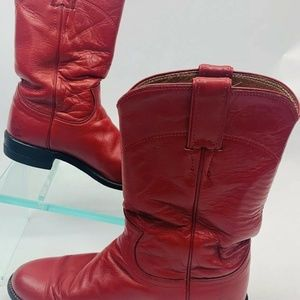 Justin Cowboy Western Boots Roper Leather Womens S
